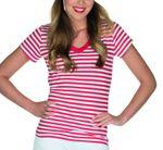 Kostüm Ringelshirt rot weiß Damen Ringelhemd Gr.34-48 Clown Karneval Fasching