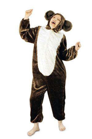 Kostüm Plüschoverall Bären Bärenkostüm Tierkostüm Damen Herren Karneval Fasching – Bild 2
