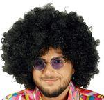 Perücke schwarze Riesen Afro Lockenkopf Hippie Reggae Karneval Halloween