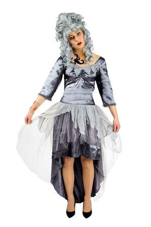 Damen Kostüm Zombie Braut Horrorkostüm Geisterbraut Gr.36-46 Fasching Halloween – Bild 1