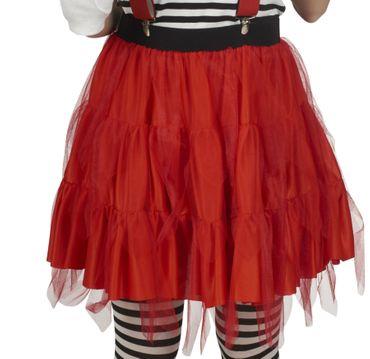 Kostüm roter Tüllrock Petticoat rot Tutu 47 cm Karneval Halloween  – Bild 1