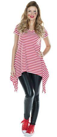 Kostüm Tunika Ringelshirt Ringelhemd rot weiß 42-52 Köln Clown Karneval Fasching – Bild 1
