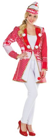 Kostüm Frack rot/weiß Kölnjacke Elferrat Patchworkoptik Uniform Karneval Köln – Bild 2