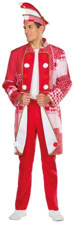 Kostüm Frack rot/weiß Kölnjacke Patchworkoptik Damen Herren Karneval Köln – Bild 4