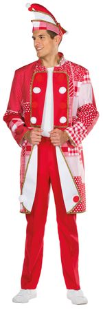 Kostüm Frack rot/weiß Kölnjacke Elferrat Patchworkoptik Uniform Karneval Köln – Bild 4