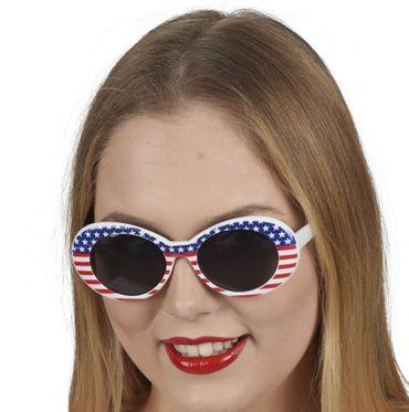 USA Brille Miss America Amerika Sonnenbrille Karneval Fasching – Bild 1
