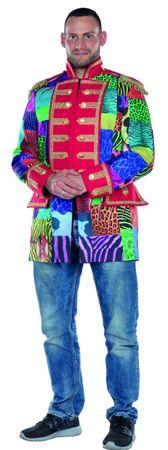 Kostüm Multi-Patch bunte Jacke Frack Zirkus Patchworkjacke Karneval Damen Herren – Bild 4