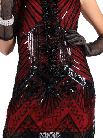 excl Charleston Kleid 20er Jahre Charleston Burlesque Flapper Karneval Silvester – Bild 2