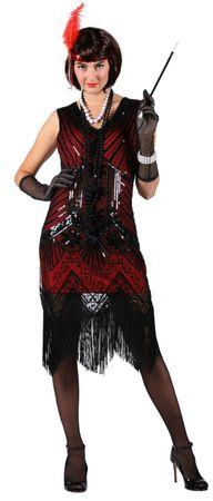 excl Charleston Kleid 20er Jahre Charleston Burlesque Flapper Karneval Silvester – Bild 3
