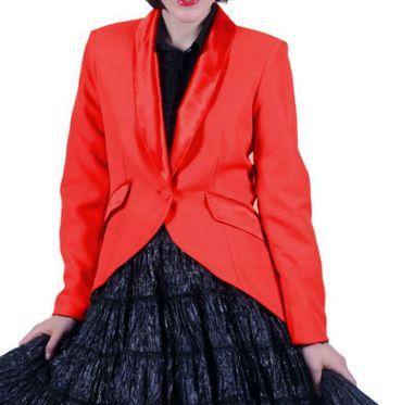 Kostüm Frack Damen rot od schwarz Jacke Gehrock Show Gr.S-XXXL Karneval Fasching – Bild 2