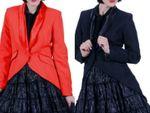Kostüm Frack Damen rot od schwarz Jacke Gehrock Show Gr.S-XXXL Karneval Fasching