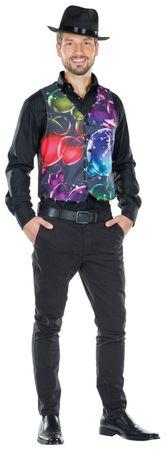 Kostüm schwarze Herren Weste mit LED bunte Seifenblasen Bubble Karneval Fasching – Bild 2