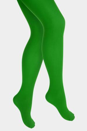 Kinder Strumpfhose grüne Nylonstrumpfhose Gr.116-152 Nylon Frosch Tier Karneval – Bild 2