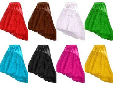 langer Tüllrock edel Damen Petticoat Cosplay Rock Spitzenrock Karneval Fasching – Bild 1
