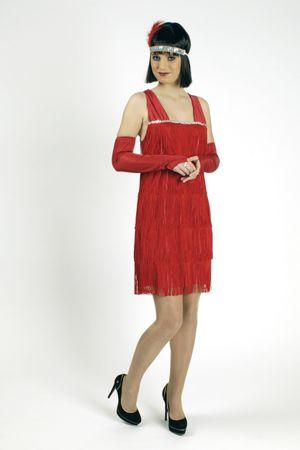 Kostüm Fransenkleid Charleston Kleid 20er Jahre Gr.36-50 Krimi Karneval Fasching – Bild 4
