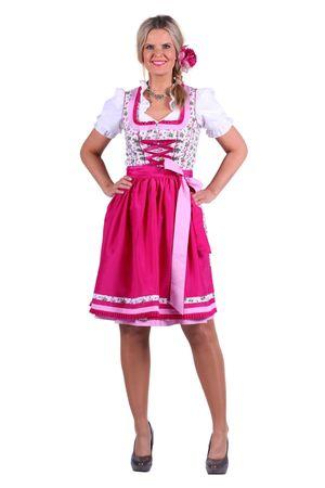 geblümtes Dirndl Elena mit Schürze Balkonette Trachtenkleid 2tlg.Oktoberfest – Bild 1