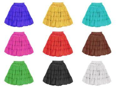 Petticoat 2-lagig Tüllrock Tutu verstellbar Tütü Unterrock 9 Farben Karneval  – Bild 1