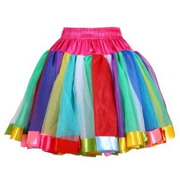 excl. Petticoat bunt Unterrock Tutu Tütü bunter Rock Karneval Fasching – Bild 1