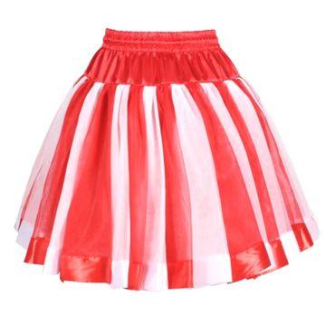 excl. Petticoat rot/weiß Tüllrock Tutu Tütü Köln rot weißer Rock Köln Karneval – Bild 1