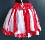 excl. Petticoat rot/weiß Unterrock Tutu Tütü Köln rot/weißer Rock Karneval
