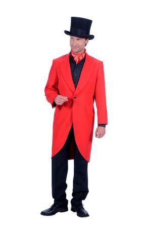 Kostüm edler roter Frack Herren bis Gr.60 rote Jacke Gehrock Karneval Halloween