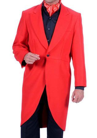 Kostüm edler roter Frack Herren bis Gr.60 rote Jacke Gehrock Karneval Halloween – Bild 2