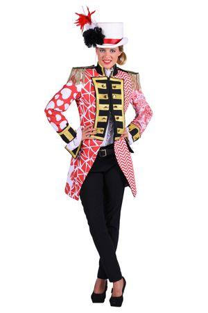 edler Frack rot/weiß Damen Herren Offizier Uniform Kölnjacke Patchworkoptik – Bild 2