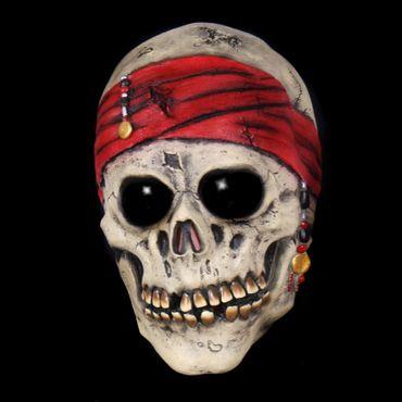 Piratenschädelmaske Maske Geister Pirat Ghost Schädel Halloween Karneval – Bild 1