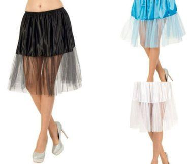 Petticoat Unterrock Tüllrock 3 Farben Tutu Tütü Karneval Fasching Kostüm – Bild 1