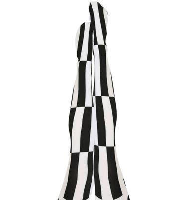 schwarz/weiße Strumpfhose Nylonstrumpfhose Harlekin black and white Karneval