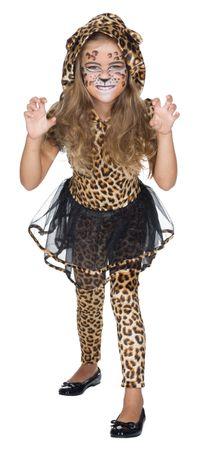 Katze Leopard Kleid Leggins Tierkostüm Zootiere Gr.128 140 Karneval Fasching – Bild 1