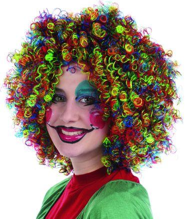 Ringellocken Perücke bunte Perücke multicolor Lockenperücke Karneval Fasching – Bild 2
