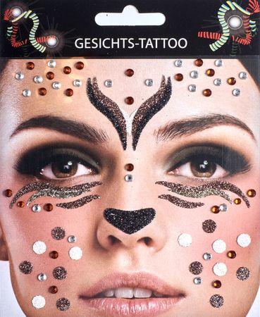 Glitter Tattoo Reh Tier Bär Tierkostüm Karneval Fasching – Bild 3