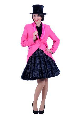 Kostüm Frack Damen pink Jacke Gehrock Show Damenfrack GrS-XXXL Karneval Fasching – Bild 1