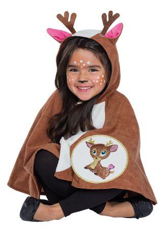 Kostüm Rehkitz Cape Kinder Reh Umhang m Kapuze Gr.104 116 Karneval Fasching – Bild 1