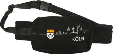 Schwarze Bauchtasche Skyline Köln u Wappen o Totenkopf Cologne Karneval Fasching – Bild 4