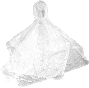 Regenponcho mit Kapuze durchsichtig dicke Qualität Regenschutz Kostüm  – Bild 1