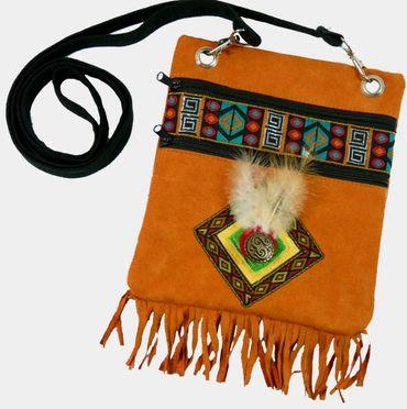 Indianer Tasche Indianertasche Umhängetasche Indianerin Kostüm Karneval Fasching – Bild 1