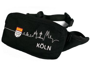 Schwarze Bauchtasche Skyline Köln u Wappen Kölntasche Karneval Fasching – Bild 1