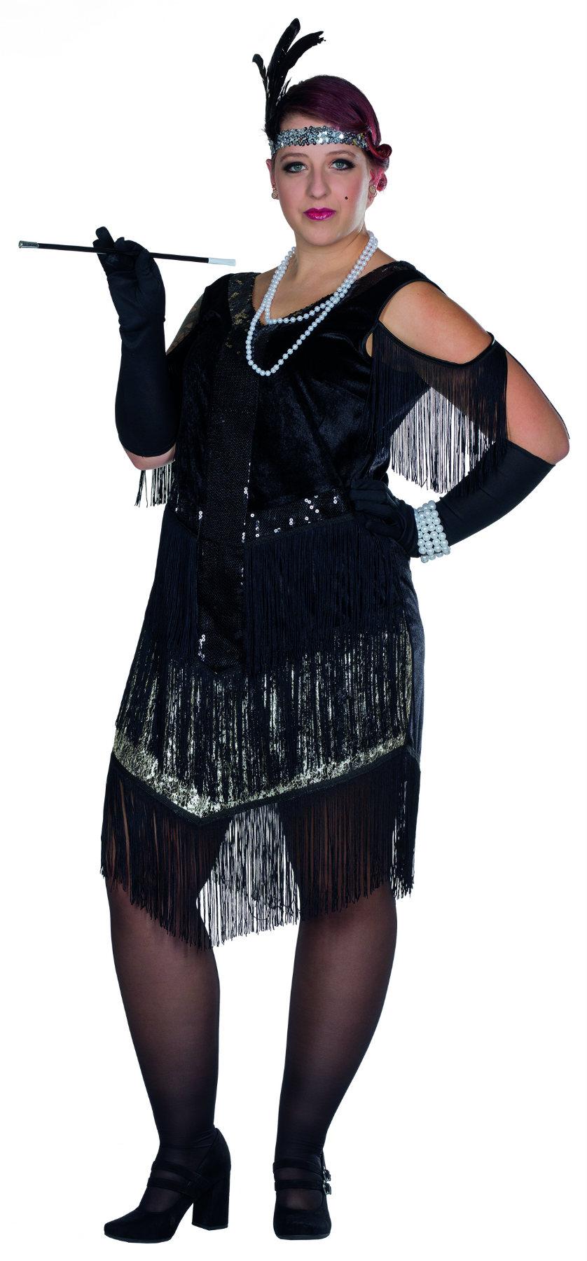 Kostüm Charleston Kleid 13er Jahre Flapper Krimi große Größen Karneval  Silvester  Internerkarneval Webshop