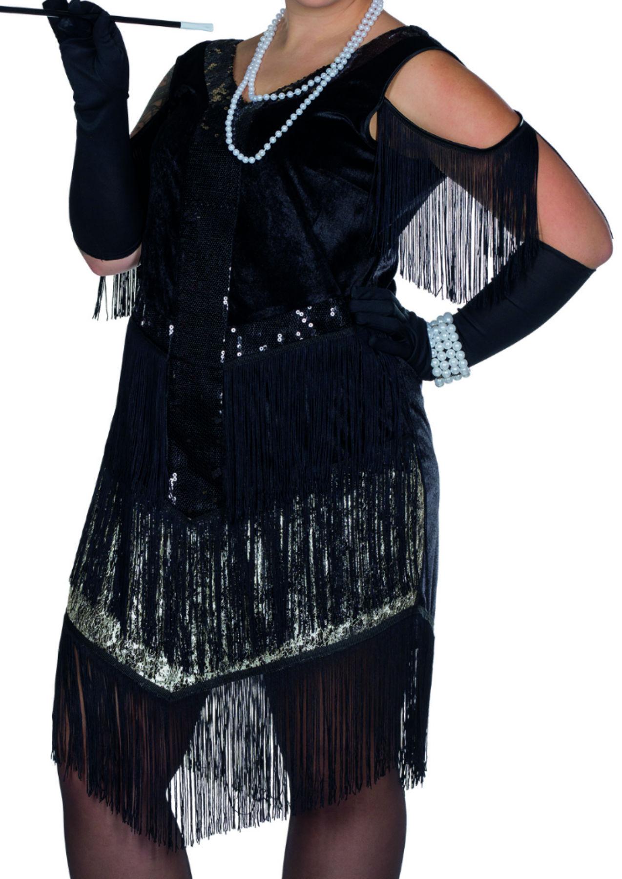 kostüm charleston kleid 20er jahre flapper krimi große größen karneval  silvester