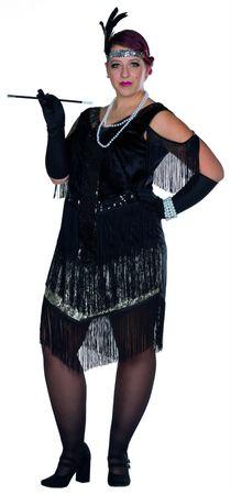 Kostüm Charleston Kleid 20er Jahre Flapper große Größen Karneval Silvester – Bild 1