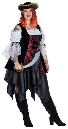 Kostüm Piratin große Größen Seeräuberin Gr.48-56 Piratinkostüm Karneval Fasching – Bild 3