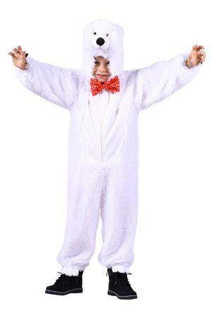 Eisbärkostüm Kinder Kostüm Eisbär Plüsch Overall Tierkostüm Karneval Fasching – Bild 1