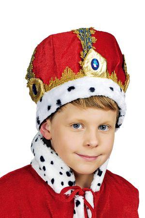 Kostüm Kinder Krone König rote Königskrone King Sternsinger Karneval Fasching