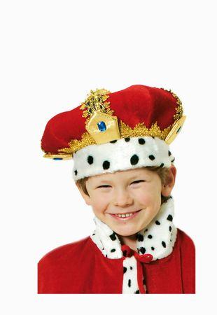 Kostüm Kinder Krone König rote Königskrone King Sternsinger Karneval Fasching – Bild 3