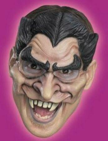 gruselige Halb Maske Dracula Draculamaske Halloweenmaske Karneval Fasching – Bild 2