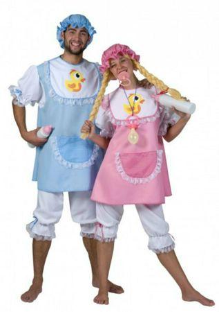 Babykostüm Kostüm Riesen Baby 4tlg. m. Schnuller Partnerkostüm Karneval Fasching – Bild 1