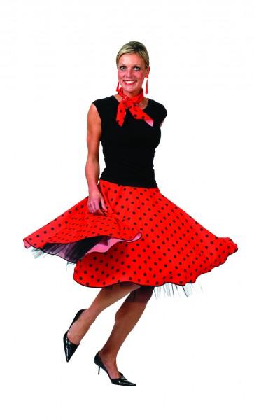 6bec5fc236dac4 Kostüm 50er Jahre Rock N Roll Tellerrock gepunktet Karneval Fasching  Rockabilly