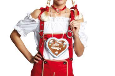 Kostüm weiße Bluse Trachtenbluse m.Stickerei Gr.34-46 Oktoberfest Schlagerfest – Bild 1